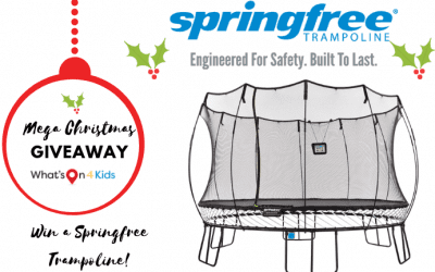 Win a Springfree Trampoline with tgoma and Australia-wide delivery valued at up to $3,079!